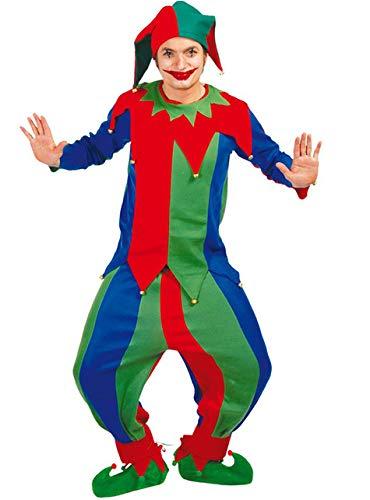 Narr - Kostüm f. Herren Karneval Fasching Hoffnarr Mittelalter Spaß Freude Gr. M - L, Größe:L (Hofnarr Kostüm)