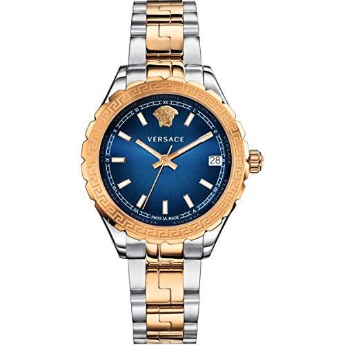 Versace Damen Analog Quarz Uhr mit Edelstahl Armband V12060017