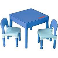 Möbel Kinder 1Tisch + 2Stühle Liberty Building Tega House Idee Geschenk Lego (Blau) preisvergleich bei kinderzimmerdekopreise.eu