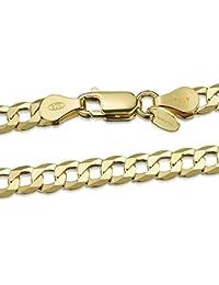 bfed33616ec2 Amberta® Cadena Chapada Oro o Rodio en Plata de Ley 925 para Hombre - Malla
