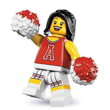 LEGO Minifigurens Serie 8 - Rot CHEERLEADER (Factory Sealed Pack) (Minifiguren Serie Lego 8)