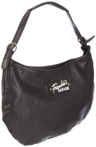 Frankie's Garage Banana Bag S211178-010, Damen Henkeltaschen 42x29x5 cm (B x H x T) Schwarz (black 010)