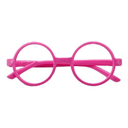 Jungs Kostüm Geeks Und Nerds - Juleya Kinder runder Gläser Rahmen - Kinder Brillen Geek/Nerd Retro Reading Eyewear Keine Objektive für Mädchen Jungen