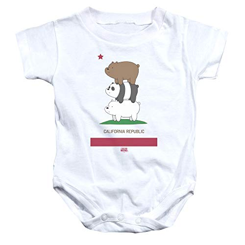 We Bare Bears - - Enfant en Bas âge Cali Stack Onesie, 18 Months, White
