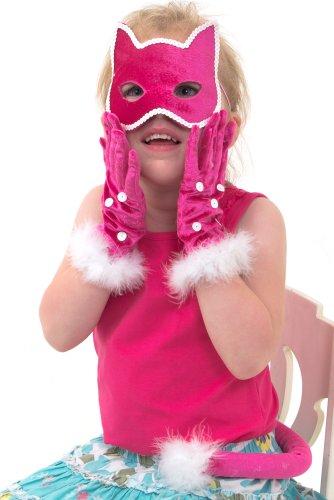 3-teiliges Katzen Kostüm Set - Maske, Handschuhe und Schwanz für Kinder - Lucy Locket