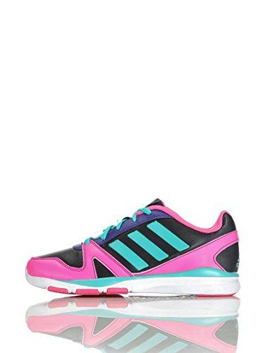 Adidas Dance low K Freizeitschuh/Sneaker Mädchen, ntgrey/vivmin/sesopk Schwarz