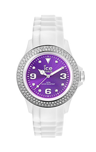 Ice-Watch - ICE star White Purple - Reloj bianco para Mujer con Correa de silicona - 013749 (Medium)