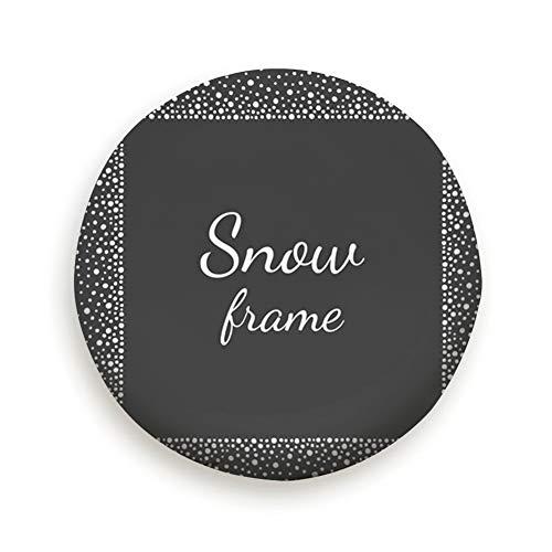 Ye Hua Snow Dots Frame Empty Space Ihre Abdeckung mit elastischem Saum - Robustes Design hält Schmutz, Regen und Sonne von Ihrem Reserverad fern (15 Zoll)