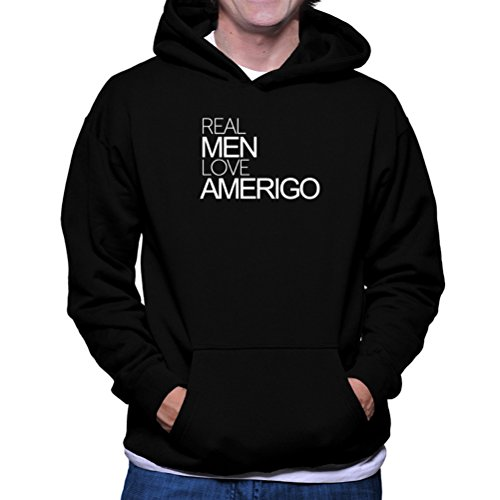 Felpe con cappuccio Real men love Amerigo