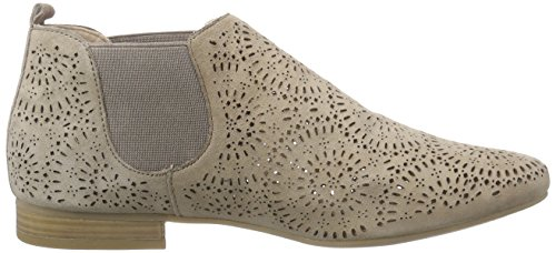 Caprice 25300, Bottes Chelsea Femme Brun (TAUPE SUEDE 343)