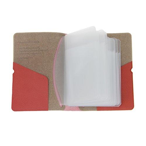 Premium PU Leder Kreditkartenetui Kartenetui Busineß Visitenkartenetui Ausweishülle Credit Card Holder für bis zu 30 Scheckkarten, mit stabilem Gummiband