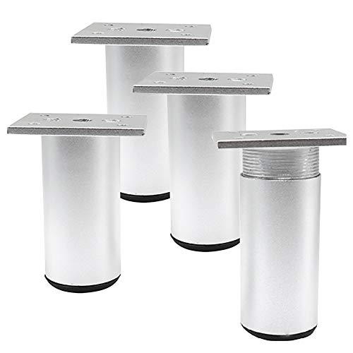 /Óptica de acero inoxidable 20 mm Altura regulable 710 mm Sossai/® Premium TBS Set de 4 unidades Juego de patas extensibles de mesa