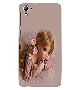 PrintDhaba Cute Doll D-1080 Back Case Cover for HTC DESIRE 826 (Multi-Coloured)