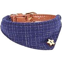 Estilo británico original Material de la pu Collar de perro Collar de animal doméstico Pañuelo ajustable del animal doméstico Pañuelo para el cuello Collar de la bufanda Gato Triángulo de perr