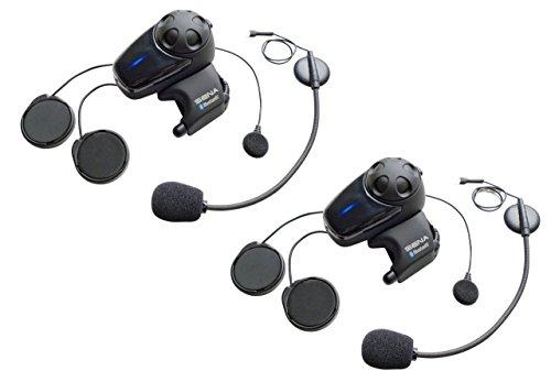 Sena SMH10D-11 Bluetooth-Headset und Gegensprechanlage für Motorräder mit Universal-Mikrofonset, Doppelpack 11 Bluetooth