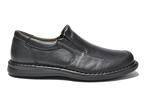 FRAU 13L5 FX nero scarpe uomo mocassini comfort maxi XL Nero
