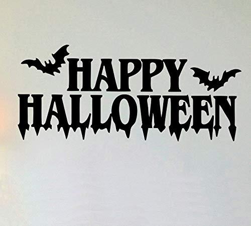 Baobaoshop Dunkelheit Nacht fledermäuse kürbis Halloween Baum wandkunst Aufkleber Aufkleber abnehmbare Vinyl Transfer Schablone wandhaupt Zimmer Deco 50x116 cm
