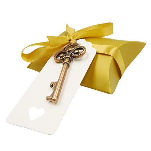 ruiruiNIE Vintage Key Flaschenöffner Papier Tags Candy Bag Hochzeit Souvenirs Gefälligkeiten Festliche Party Supply - B2#