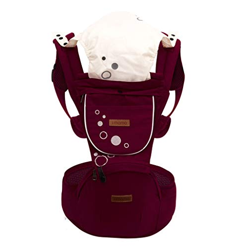 Lenfesh Tragetasche Tragehilfe Baby Babytrage Baby Carrier Ergonomische Tragetasche Multifunktions-Freisprecheinrichtung Verstellbarer Rucksack für Baby Neugeborene/Kleinkinder