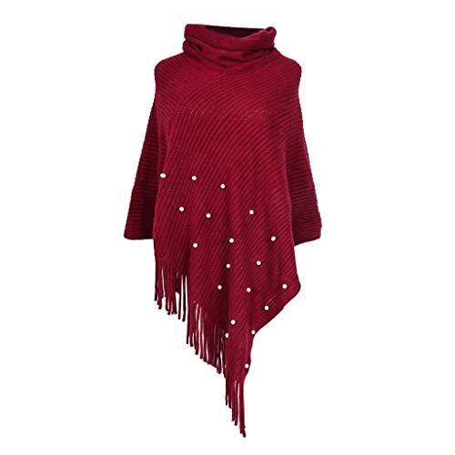 JURTEE Damen Mode Einfarbig Strickschal Mantel Dual-Use Pullover Asymmetrisch Saum Top Bluse Oberteile(one - Männer Kostüm Selbstgemacht