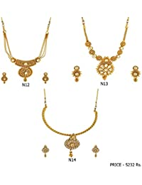 Fashion For Sure Combo Set Of Beautiful Necklaces For Lovely Womens & Girls (Combo0.13)
