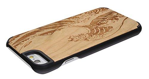 """SunSmart Housses classique en bois iPhone 6 Plus Housse en bois naturel de protection pour iPhone Plus 5.5""""-23 16"""