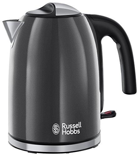 Russell Hobbs 20414-70 Colours Plus+ Storm Grey Wasserkocher, 2400 W mit Schnellkochfunktion, 1,7 l, grau