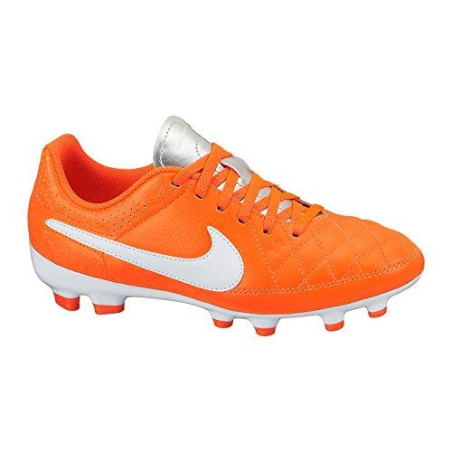 Nike Tiempo Genio Leather FG 630861-810, Unisex-Kinder Fußballschuhe, Gr.-36 EU, Orange