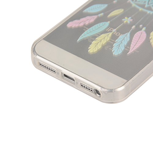 iPhone SE Coque, MOONCASE iPhone 5s Étui Slim Fit Housse en TPU Absorption de Chocs Case Cover pour iPhone SE / 5S / 5 - YG12 Série multicolore - YG03