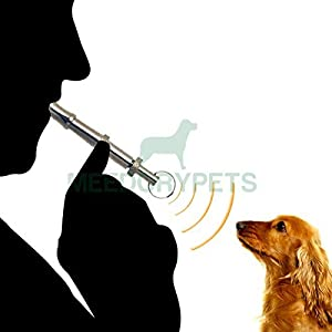 Sifflet de dressage pour chien-Bague en acier inoxydable clé robuste avec réglable-Apprendre et compétences Train de votre chien pour arrêter les aboiements-Garantie à vie