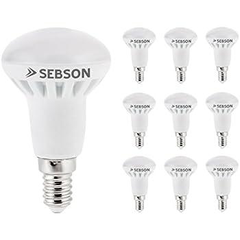 SEBSON LED Lampe E14 R50 6W (5.5W), ersetzt 40W Glühlampe, warmweiß, 400lm, Leuchtmittel 160°, 10er Pack