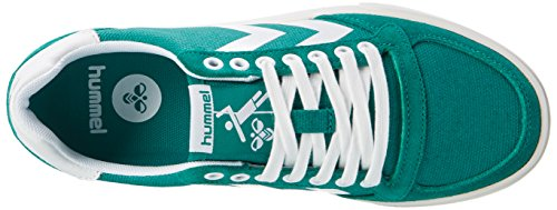 Hummel Slimmer Stadil Waxed Canvas Lo-Top, Scarpe da Ginnastica Basse Unisex-Adulto Verde (Ultramarine Green)