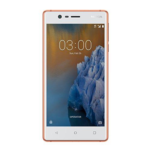 "Nokia 3 TA-1032 DS ES PT - Smartphone de 5.0""(2 GB RAM,Memoria interna 16 GB, microSD hasta 128 GB), cobre"