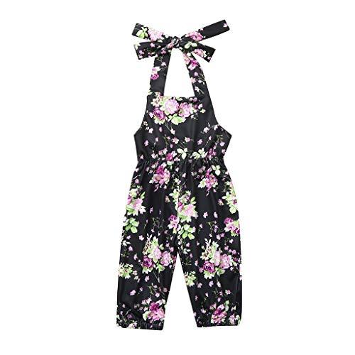 Jumpsuit Baby Mädchen Sommer Pwtchenty Floral Bedruckte Strampler Overall Kleidung Outfits Strampelanzug Schlafstrampler ()