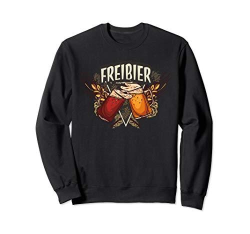 Freibier lustig für Biertrinker & toll für Oktoberfest Bier Sweatshirt -
