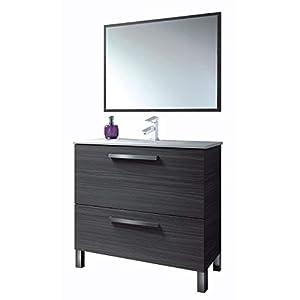 Hogar Decora Mueble de Baño: Mueble con Espejo + Lavabo con Grifo Monomando