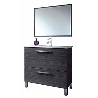 41hdgRI4J1L. SS324  - Hogar Decora Mueble de Baño: Mueble con Espejo + Lavabo con Grifo Monomando