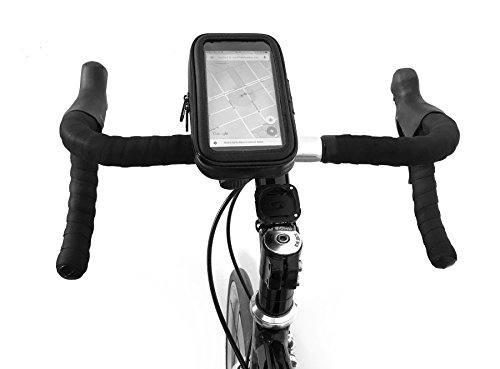 Price comparison product image KAIOVA® - Bike holder, Smartphone holder, Handyhalterung for the handlebar - waterproof - Outside 95x165x25mm - Inside: 80x150x20mm