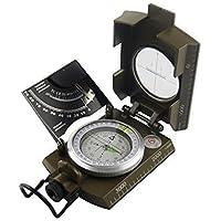 Shaddock pesca® Professionale Multifunzione Militare Esercito Metallo Sighting Compass Inclinometro Per Campeggio hiking-waterproof Bussola