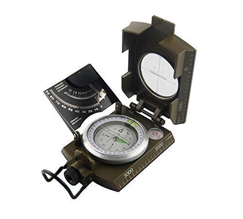 SHADDOCK Angeln® Professional Multifunktions Military Army Metall Visieren Kompass Neigungsmesser für Camping hiking-waterproof Kompass