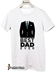 T-Shirteria - Camiseta para regalo del día del Padre, todas las tallas, modelo mejor padre blanco Talla:XXL