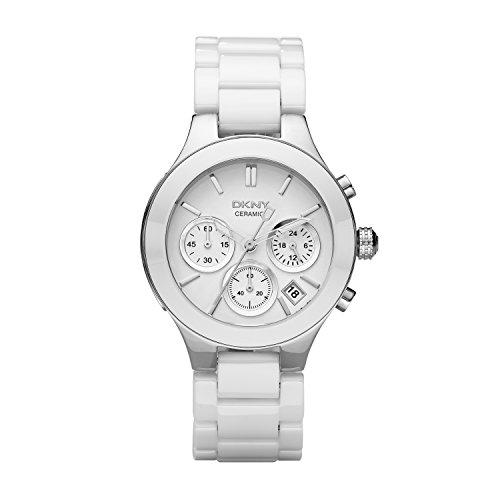 DKNY  NY4912   Reloj de cuarzo con correa de acero inoxidable para mujer, color blanco
