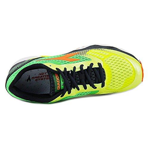 Diadora Scarpa Running Sneaker Jogging Uomo N-6100-4 Yellow fluo/green fluo Scarpe Giallo fluo