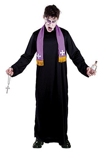 Kostüm Exorzist - Haunted House Vater Karras,-Kostüm für Erwachsene, Einheitsgröße (Rubie 's Spain S8250)