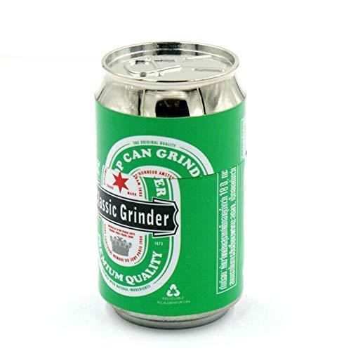 SSRSHDZW Kräutermühle Mini Can Metal Grinder Cola Flasche Kleine 4-lagige Metallic Smoke Remover Herbal Spice Grinder