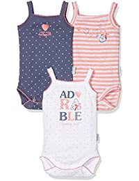 Absorba 3 Bodies Bretelle Adorable Bebe, Body para Bebés