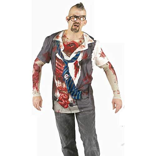 Zombie Fun T-Shirt Herren Kostüm Shirt für Party, -