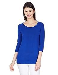 UCB Womens T-Shirt (15A1098E6023I38G_Mazarine Blue_L)