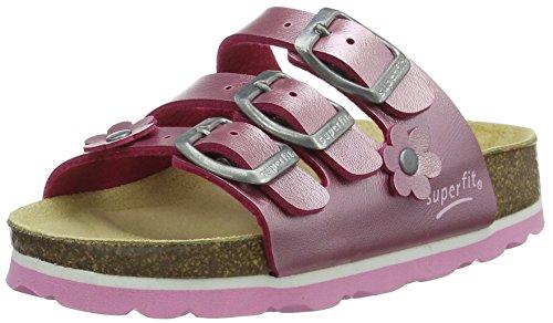 Superfit Mädchen Fussbettpantoffel Pantoffeln, Pink (Krokus 73), 37 EU