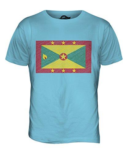 CandyMix Grenada Kritzelte Flagge Herren T Shirt Himmelblau